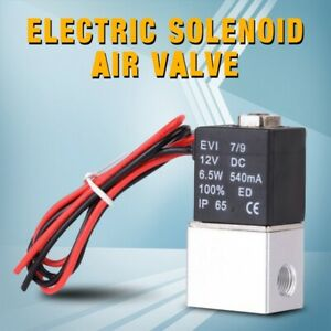 12v 1 4 Aluminum 2 Way Normally Closed Pneumatic Electric Solenoid Air Valve