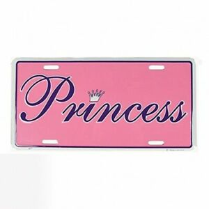 Princess Aluminum Automotive Novelty License Plate Pink Tag Sign New