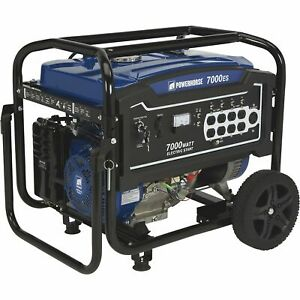 Powerhorse Portable Generator 7000 Surge Watts 5500 Rated Watts Electric Start