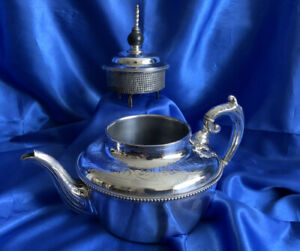 Harrison S Victorian Silver Plate Teapot With Patented Inbuilt Tea Infuser