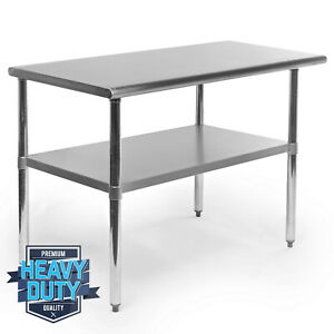 Open Box Stainless Steel Commercial Kitchen Work Food Prep Table 24 X 48