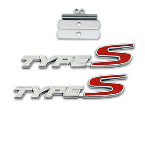 Metal Type S Badge Emblem front Grille Sticker For Honda Acura Tl Tlx Tsx Rsx Cl