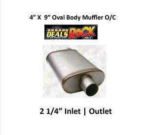 Performance Exhaust Stainless Muffler 2 1 4 In Out 4 X 9 Oval Body O C