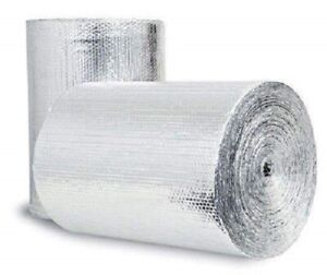 Double Reflective Insulation Roll 48 x 50 Ft Home Wall Garage Heat Barrier New