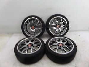 18 Ch Rep Wheels 5 X 100 Vw Mk4 Golf Gti Jetta Beetle Audi Tt Mesh