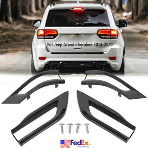 For 2014 2020 Jeep Grand Cherokee Gloss Black Tail Light Trim Bezel Kit Us Stock