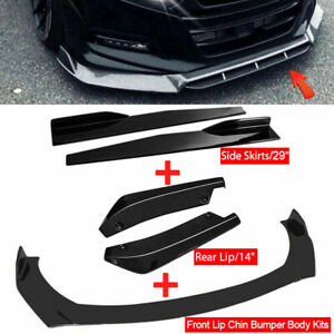 Gloss Black Side Skirt rear Lip front Bumper Lip Spoiler For Honda Civic Accord