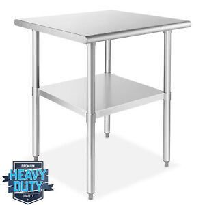 Open Box Stainless Steel Commercial Kitchen Prep Work Table 30 In X 30 In