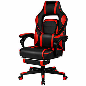 Office Home Racing Style Executive High Back Gaming Chair W Ottoman