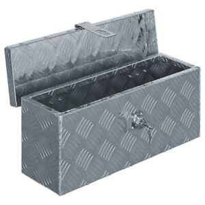 Aluminum Tool Box Storage For Truck Pickup Bed Trailer Tongue W Lock Silver New
