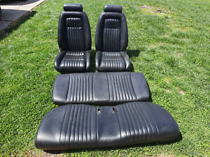 1987 1993 Ford Mustang 5 0l Front And Rear Seats Black Coupe Notch Reconditioned