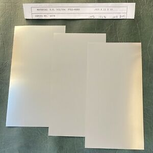 5 Sheets 002 4 8 304 Stainless Steel Foil Shims Sheet Metal Chemical Milling