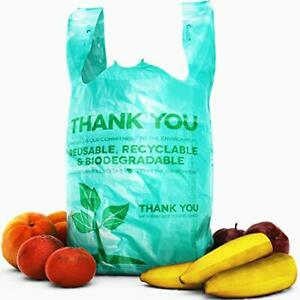 Bulk Pack 22 Thank You Plastic T shirt Grocery Bags Biodegradable recyclable