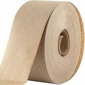 Water Activated Reinforced Seal Packing Tape Kraft Brown 2 75 X 450 Ft