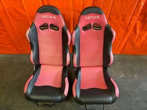02 06 Acura Rsx Netami Brand Racing Seats W Rsx Seat Rails Left Right 39