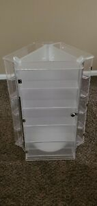 Clear Acrylic 5 Tier Rotating Jewely Case 3 Sides