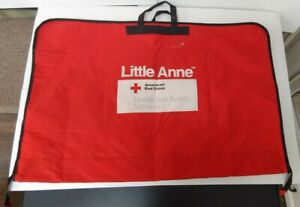 Red Cross Laerdal Little Anne Adult Cpr Training Manikin Carrying Bag Case Used