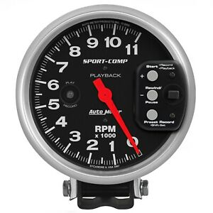 Autometer 3967 Sport comp Playback Tachometer Fits 5 6 Pulse Ignition Signals