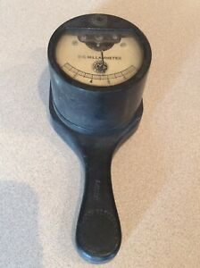 Vintage Dc Current Meter 0 10 Mallory Electric Corp Toledo Ohio Usa Steampunk