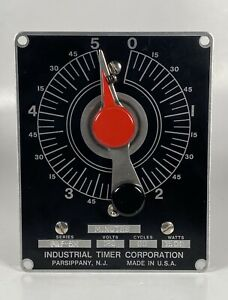 Industrial Timer Corporation Itc Paf 5m Timer Usa Made Five Minute 120 Volt