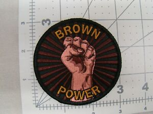 Brown Power Fist Iron Patch Hispanic Culture Patch Raza Patch Chicano Patch Loco
