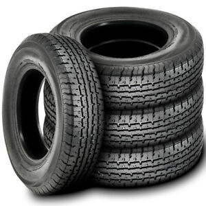 4 New Trailer Master St Radial St 205 75r14 Load C 6 Ply Trailer Tires