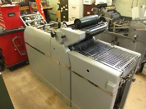 Multilith 1250 W Offset Printing Press Chain Delivery Perfect Running Condition