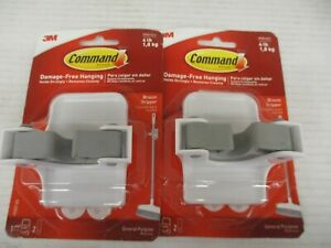 2 Command Damage free Hanging Broom Holder Holds Up To 4lbs Kw 1006