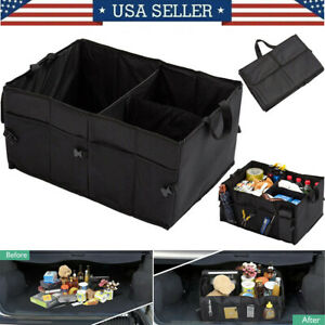 Car Trunk Boot Cargo Organizer Portable Storage Collapsible Bag For Suv Truck Us