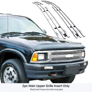 Fits 1994 1997 Chevy S 10 S10 Pickup Upper Stainless Billet Grille Insert