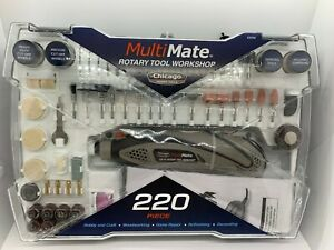 Multimate Chicago Power Tools 220 Piece Rotary Tool Workshop 63558