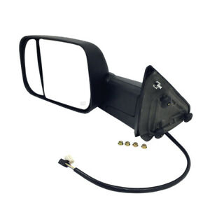 Left Mirror Tow Power Heated Signal Puddle Light Textured Black For Ram 1500
