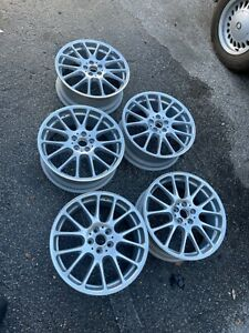 Bbs Re5005 Set Of Five Wheels 5x100 17x7 Oem Light Weight Silver Germany Japan