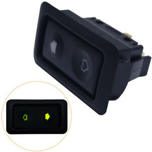 2pc Universal 6pins Electric Power Window Switch With Indicator Light Control Us