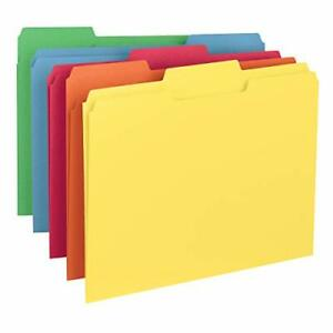 Smead Colored File Folder 1 3 cut Tab Letter Size Assorted Primary Colors 100