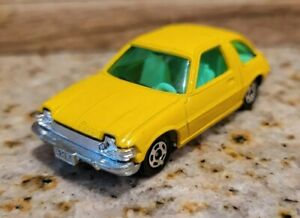 Vintage Tomy Tomica 1977 Amc Pacer Yellow W Green Windows Excellent Condition