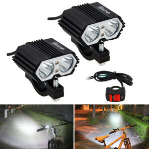 2x 30w Motorcycle Led Headlight Fog Head Lamp Spot Driving Light With Switch Us