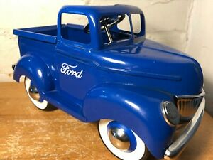 1940 Ford Pressed Steel Blue Pickup Truck Planter By Teleflora 10