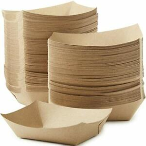 3 Lb Kraft Brown Paper Food Trays Recyclable Compostable By Avant Grub