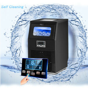 Smad Commercial Ice Maker Under Counter Self clean 88 Lbs 24h Black With Scoop
