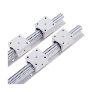 Linear Rail 2pcs Sbr12 300mm Linear Guide 2 Linear Guide Rails And 4 Square T