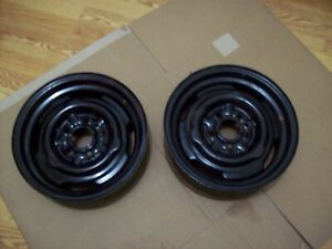 Pair Plymouth Dodge 5x4 Bolt Pattern 13x4 5 j 79577 Steel Rims Duster Dart