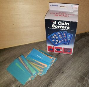 Vintage 4 Coin Sorter Trays By Sunhill Made In Usa 1990 Paper Rolls Included