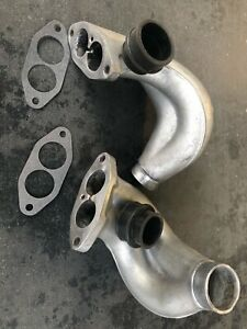 Vw Bug Dual Port Right And Left Pair Intake Manifold End Casting Swirl gaskets