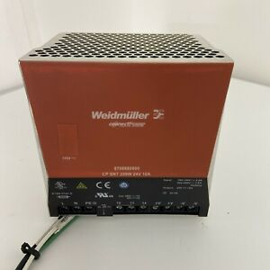 Weidmuller 870868000 Power Supply Cp Snt 250w 24v 10a