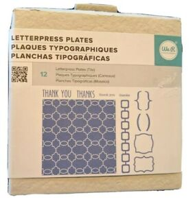 Letterpress Plates Thank You Thanks 12 Pieces We R Memory Keepers New Free Ship