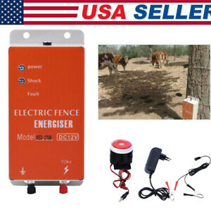 Solar Fence Charger Electronic Controller Ranch Animals Sheep Cattle Poultry Us