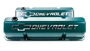 Proform Aluminum Tall Valve Covers Small Block Chevy P n 141 933