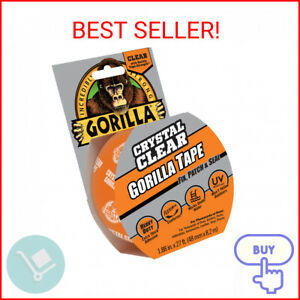 Gorilla Crystal Clear Tape 1 88 Inch X 27 Ft Roll