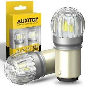 Auxito Led 1157 2057 2357 Front Turn Signal Drl Parking Light Bulbs Xenon White